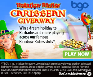 Bgo Rainbow Riches Caribbean Giveaway
