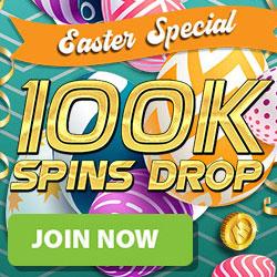 Bgo Easter 100k Free Spins Drop Promotion Banner
