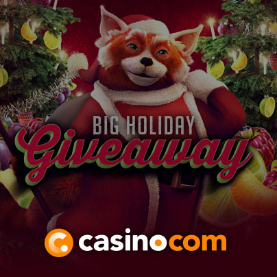 Casino.com £200,000 Big Holiday Giveaway