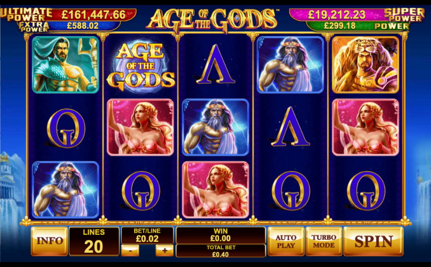 Age Of The Gods Online Slots With Wager Free Spins No Wagering