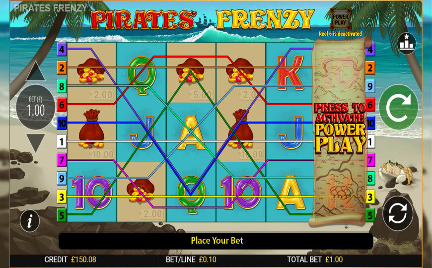 Blueprint Gaming Pirates Frenzy slot