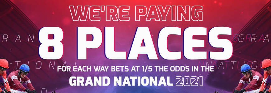 Grand National 2021 - Betfred - 8 Places
