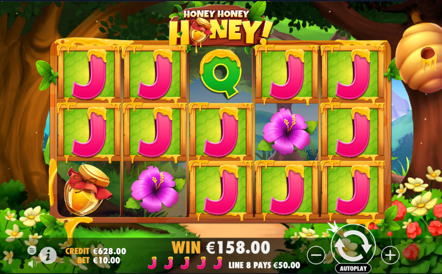 Honey Rush slot game by Play'N GO