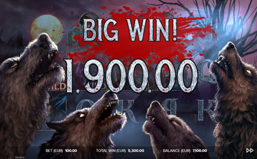 Big Win The Wolf's Bane NetEnt slot