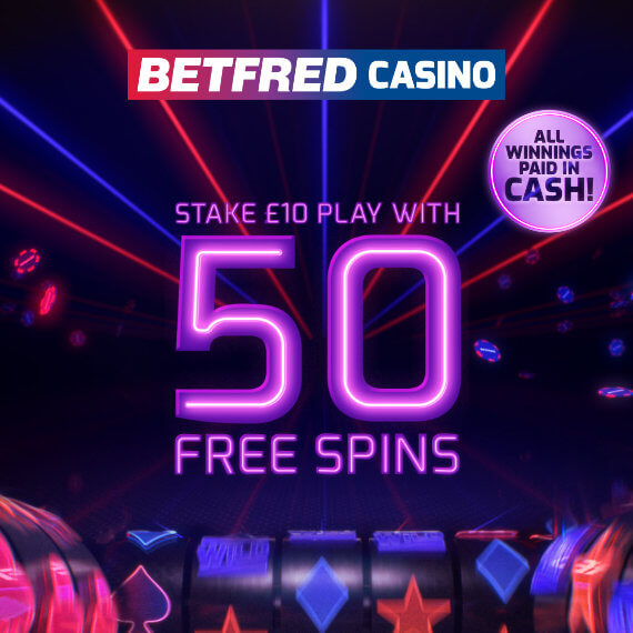 Betfred Casino Welcome Bonus Logo