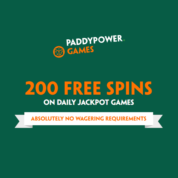 Paddy Power Games Welcome Offer Banner
