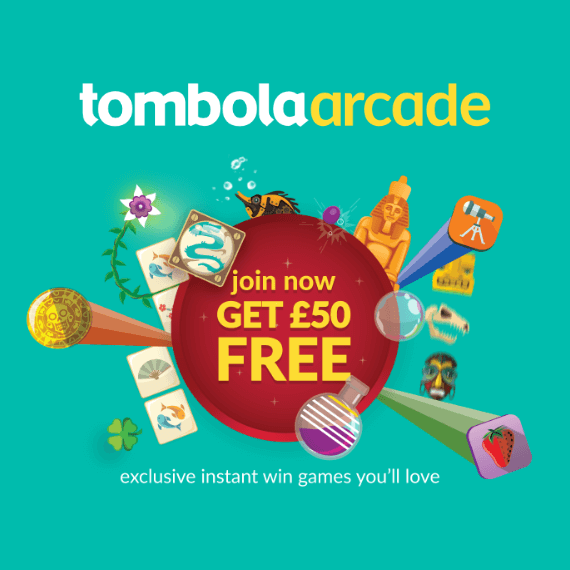 Tombola Arcade Welcome Offer Logo