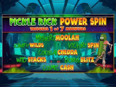 Pickle Rick Power Spin Features Image
