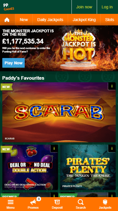 Paddy Power Mobile Screenshot 1