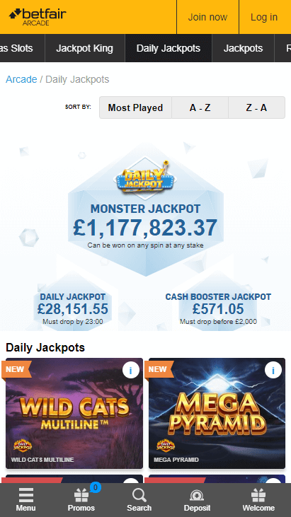Betfair Casino Mobile Screenshot 3