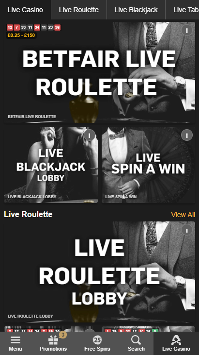 Betfair Casino Mobile Screenshot 7