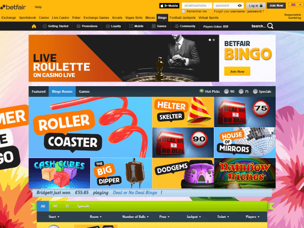 Betfair Casino Desktop Screenshot 5