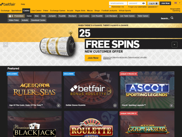 Betfair Casino Desktop Screenshot 3