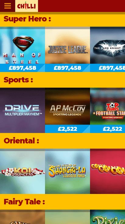 Chilli Casino Mobile Screenshot 6