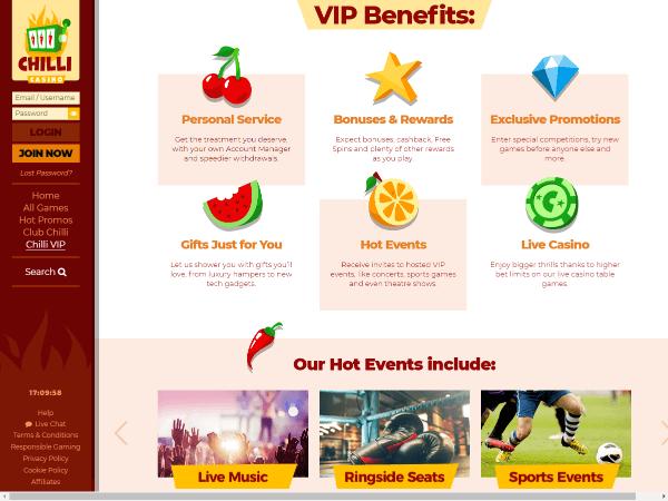 Chilli Casino Desktop Screenshot 1