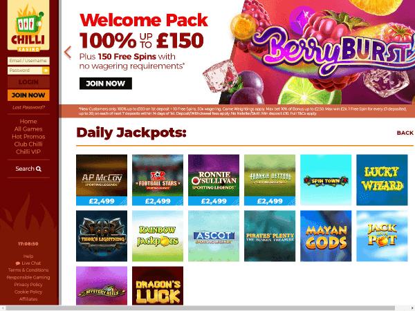 Chilli Casino Desktop Screenshot 2