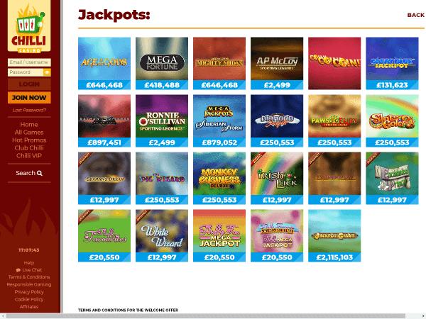 Chilli Casino Desktop Screenshot 4