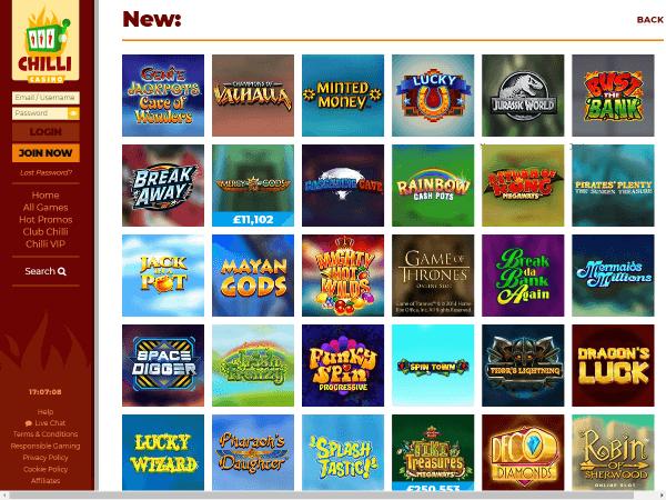 Chilli Casino Desktop Screenshot 5
