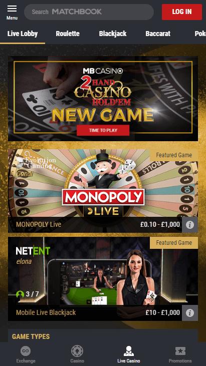 Matchbook Casino Mobile Screenshot 7