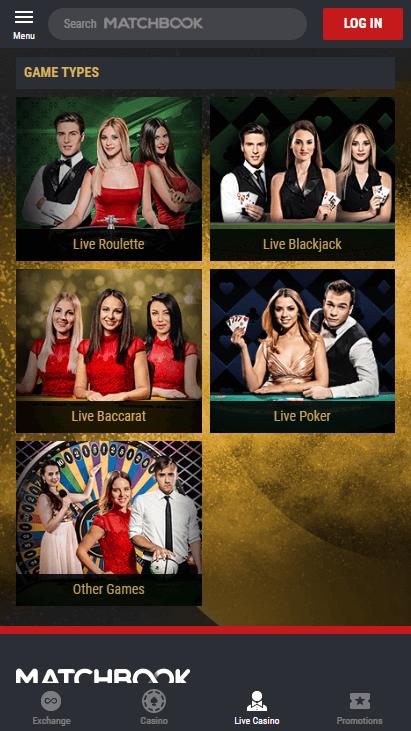 Matchbook Casino Mobile Screenshot 8