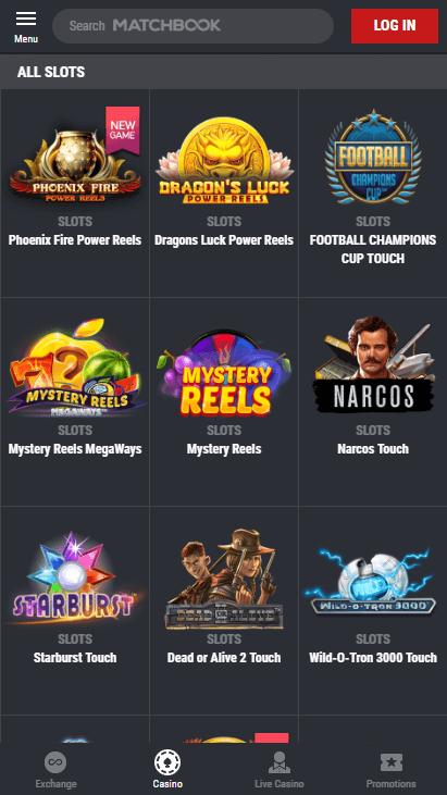 Matchbook Casino Mobile Screenshot 3