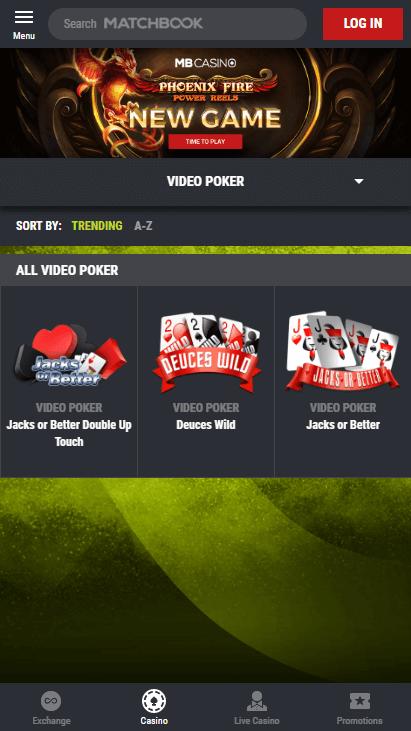 Matchbook Casino Mobile Screenshot 6