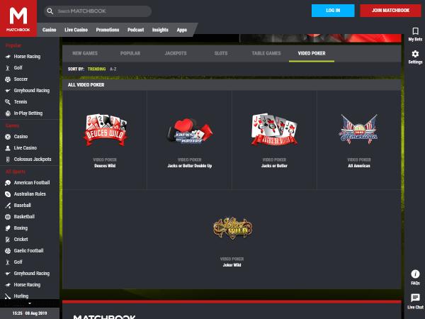 Matchbook Casino Desktop Screenshot 6