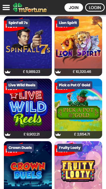 mFortune Mobile Slots