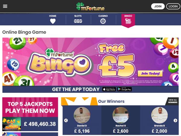 mFortune Desktop Bingo