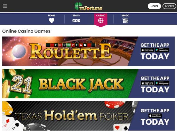 mFortune Desktop Casino