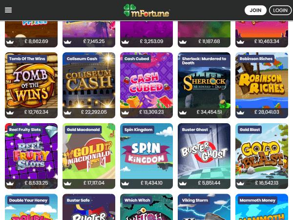 mFortune Casino - No Wagering Requirements On Bonuses