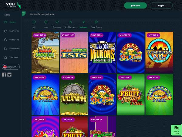 Volt Casino Desktop - Jackpots