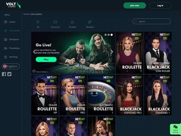 Volt Casino Desktop - Live Casino