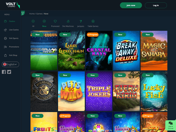 Volt Casino Desktop - New Games