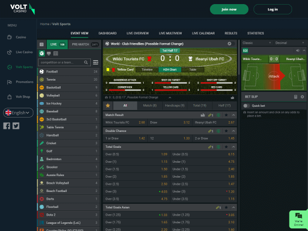Volt Casino Desktop - Sports
