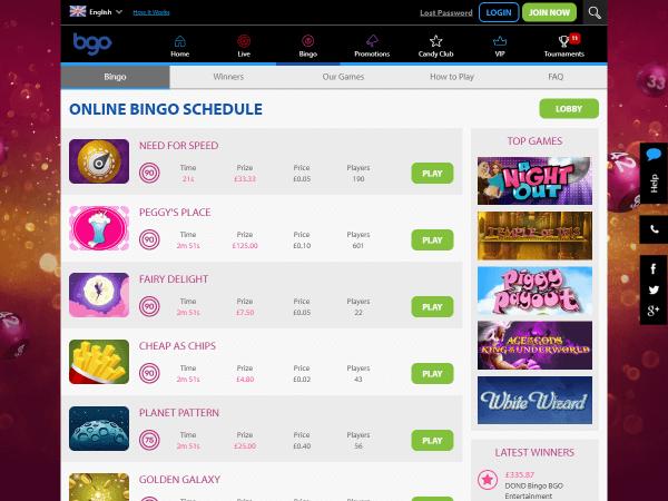 Bgo Desktop Bingo