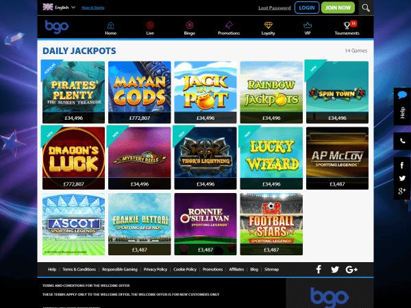 Bgo Desktop Daily Jackpots