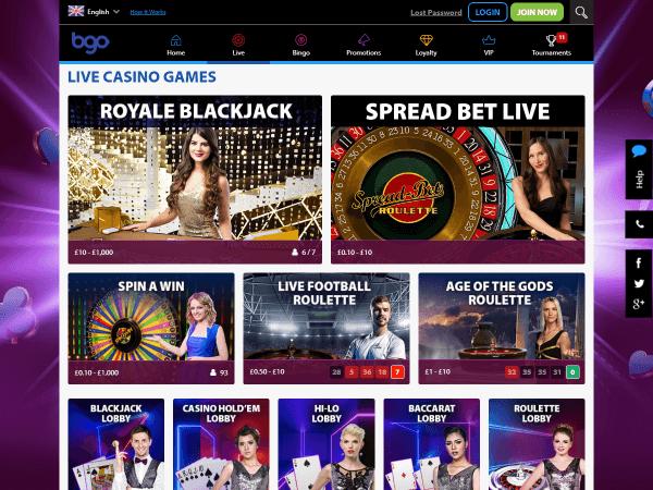 Bgo Desktop Live Casino