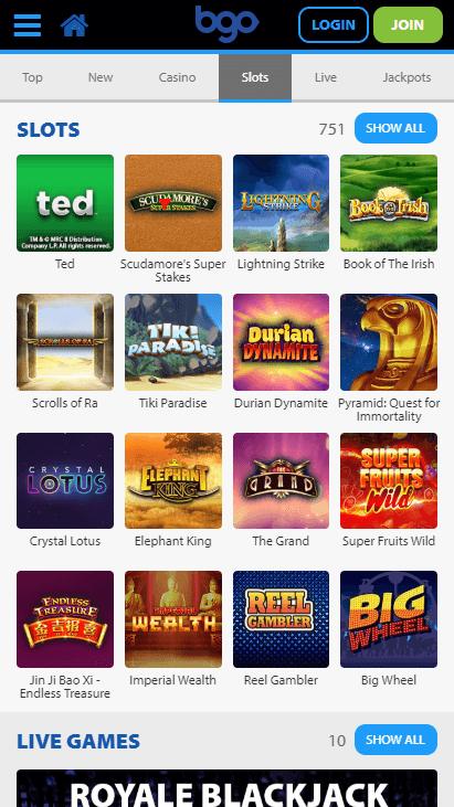 Bgo Mobile Slots