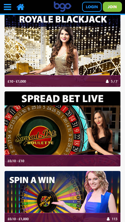 Bgo Mobile Live Casino
