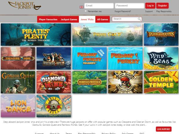 Jackpot Jones Desktop Top Games