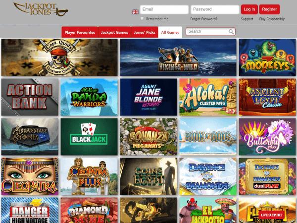 Jackpot Jones Desktop Games