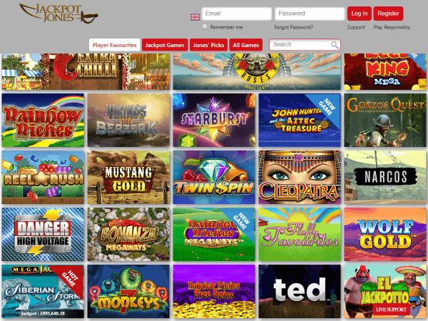 Jackpot Jones Desktop Homepage