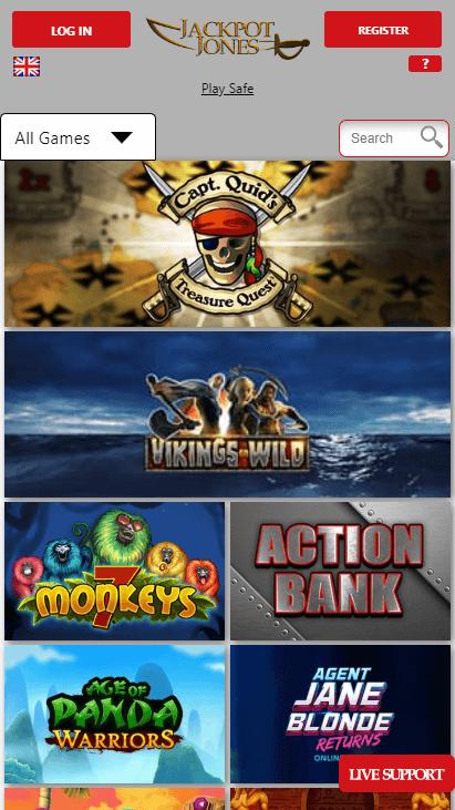 Jackpot Jones Mobile Games