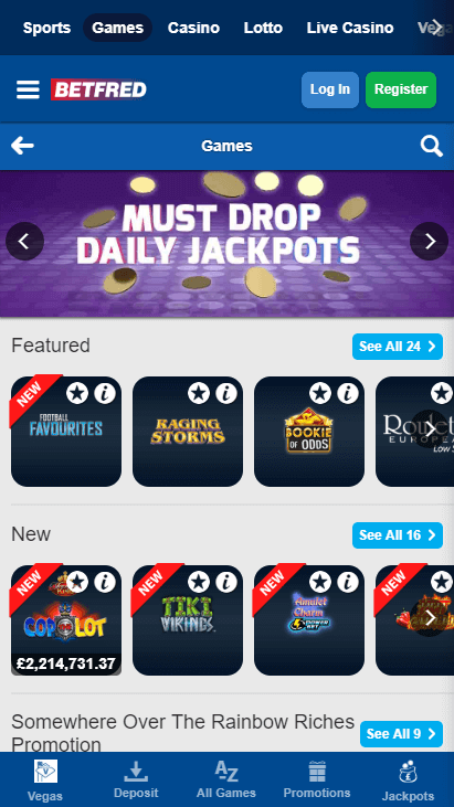 Betfred Casino Mobile Games