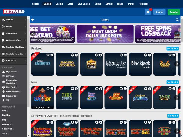 Betfred Casino Desktop Games