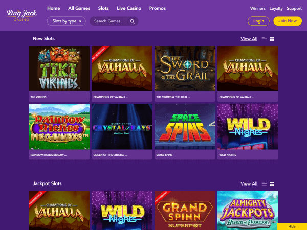 King Jack Casino Desktop Slots 2