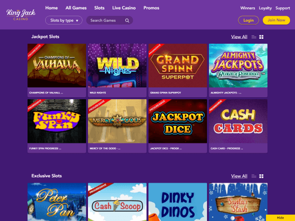 King Jack Casino Desktop Slots 3