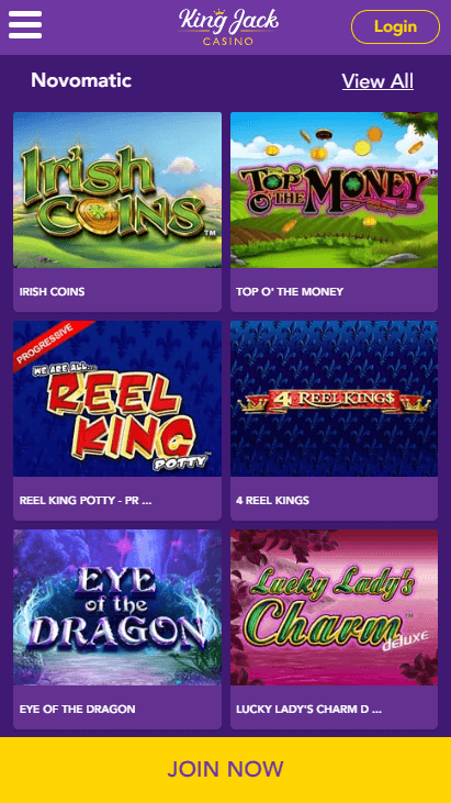 King Jack Casino Mobile Slots