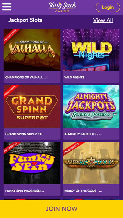 King Jack Casino Mobile Slots 3